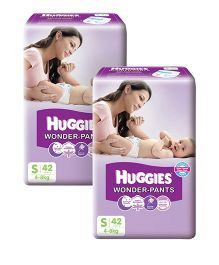 Huggies Wonder Pants Small Pant Style Diapers - 42 Pieces Pack Of 2