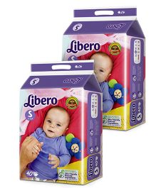 Libero Open Diapers Small - 40 Pieces Pack Of 2
