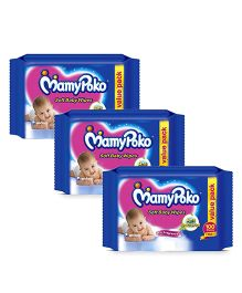 Mamy Poko Soft Baby Wipes - 100 pieces Pack Of 3
