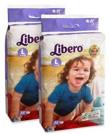Libero Open Diapers Large - 38 Pieces Pack Of 2