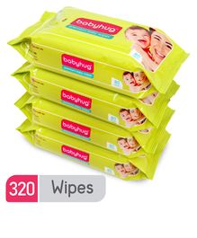 Babyhug Premium Baby Wipes - 80 Pieces Of Pack 4