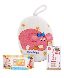 Mee Mee Hand and Mouth Baby Wipes 80 Pieces AND Mee Mee Nourishing Baby Wellness Soap AND Mee Mee Bath Sponge