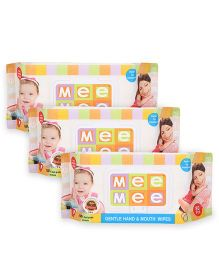 Mee Mee Hand and Mouth Baby Wipes 80 Pieces, Pack of 3