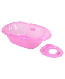 Babyhug Bath Tub & Potty Trainer combo - Pink