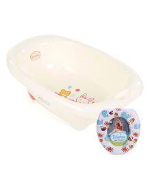 Babyhug Bath Tub & Potty Trainer combo - Printed - White