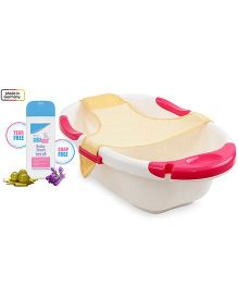 Sebamed - Baby Wash and Farlin Dual Color Bath Tub With Net - Off White