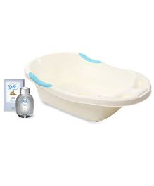 Bottega Di Lungavita - Baby Aqua Cologne and Baby Bath Tub - Cream Blue