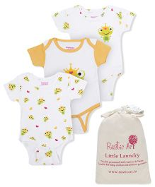 Morisons Baby Dreams Half Sleeves Onesies Yellow - Set Of 3 and 	Rustic Art Little Laundry Powder - 500 gm