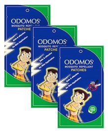 Dabur Odomos Mosquito Repellent Patches Zipper Bag - 10 Pieces - Pack of 3