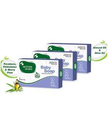 Mother Sparsh Ayurvedic Baby Soap - 75 gm pack of 3