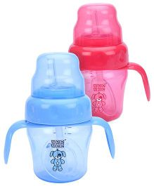 Mee Mee Straw Training Cup - 150 ml- Pack of 2 (Blue, Red)