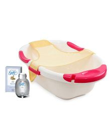 Bottega Di Lungavita - Baby Aqua Cologne AND Farlin Dual Color Bath Tub With Net - Off White