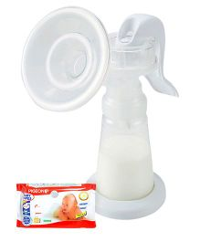 Pigeon Baby Wipes 80 Pieces AND Pigeon - Adjustable Manual Breast Pump