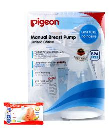 Pigeon Manual Breast Pump AND Pigeon Baby Wipes 80 Pieces