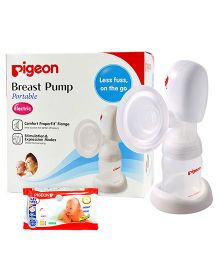 Pigeon Baby Wipes 80 Pieces AND Pigeon Electric Breast Pump