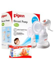 Pigeon Baby Wipes 80 Pieces AND Pigeon Manual Breast Pump