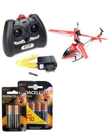 Modelart 3.5 IR Helicopter Wt Gyro and Duracell AA Batteries - Pack Of 4 and Duracell AA Batteries - Pack of 2