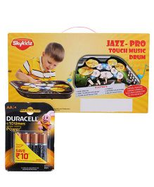 Mitashi Skykidz Jazz Pro Music Drum and Duracell AA Batteries - Pack Of 4