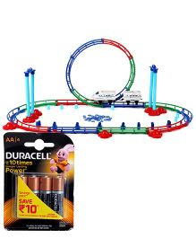Mitashi Dash Roller Coaster Bullet Train Medium - Multi Color and  Duracell AA Batteries - Pack Of 4