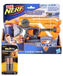 Nerf N Strike Funskool Elite Firestrike Blaster Gun - Orange and  Duracell AAA Batteries - Pack Of 2