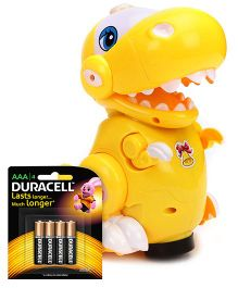 Mitashi Skykidz Pet Party Crocodile - Yellow and  Duracell AAA Size Batteries - Pack Of 4