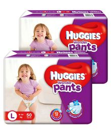 Huggies Wonder Pants Large Size Pant Style Diapers - 50 Pieces Of 2