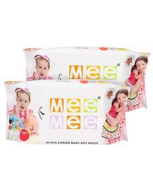 Mee Mee Caring Baby Wet Wipes - 30 Pieces- Pack of 2