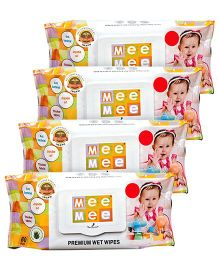 Mee Mee Premium Wet Wipes - 80 Pieces- Pack of 4