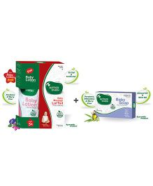 Mother Sparsh Ayurvedic Baby Massage Lal Tail - 100 ml AND Mother Sparsh Ayurvedic Baby Soap - 75 gm