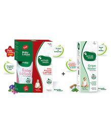 Mother Sparsh Ayurvedic Baby Massage Lal Tail - 100 ml AND Mother Sparsh Ayurvedic Gripe Water - 130 ml