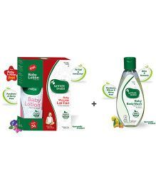 Mother Sparsh Ayurvedic Baby Massage Lal Tail - 100 ml AND Mother Sparsh Ayurvedic Baby Body Wash - 100 ml