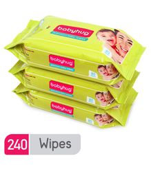 Babyhug Premium Baby Wipes - 80 Pieces	- Pack of 3