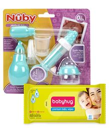 Babyhug Premium Baby Wipes - 80 Pieces AND Nuby Medical Kit