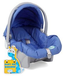 Babyhug Take Me Along Car Seat cum Carrycot - Blue AND Babyhug Baby On Board Sign Giraffe - Blue