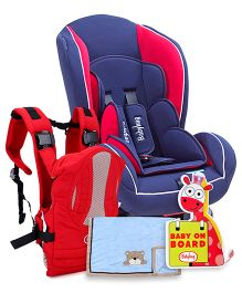 Babyhug Travel Time Essential 3 Way Carrier, Car Seat, Baby Blanket And Car Sign Bord.