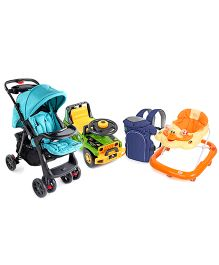 Babyhug Baby gear for your Baby- 3 way Carrier, Walker, Ride On, Stroller.