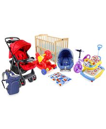 Babyhug Cradle, Walker, Stroller, Tricycle, Car-seat cum carrycot, Ride on, Bedding Set