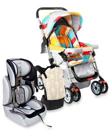 R For Rabbit Travel essential for baby- 3 Way Baby Carrier, Forward Facing Car Car-Seat And lollipop Pram.