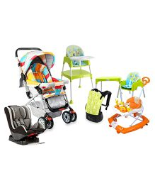 R For Rabbit growing Baby essential Baby Gear- Rocking Walker, Convertible Car-Seat, Lollipop Pram And High Chair