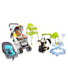 R for Rabbit High Chair, Walker, Stroller, Carrier, Car-Seat