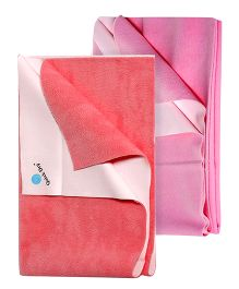 Quick Dry Bed Protector Pink - Large AND Quick Dry Bed Protector Salmon Rose - Large