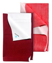 Quick Dry Bed Protector Small - Red  AND Quick Dry Bed Protector Small - Yellow