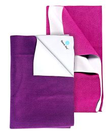 Quick Dry Bed Protector Orchid - Small AND Quick Dry Bed Protector Plum - Small