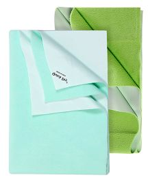 Quick Dry Bed Protector Sea Green - Small AND Quick Dry Bed Protector Pista Color - Small