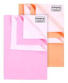 Babyhug Smart Dry Bed Protector Sheet Pink - Large AND Babyhug Smart Dry Bed Protector Sheet Peach - Medium