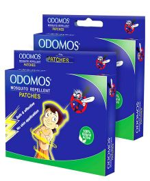 Dabur Odomos Mosquito Repellent Patches Carton Box - 24 Pieces Pack of 2