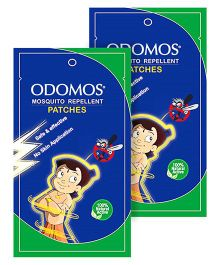 Dabur Odomos Mosquito Repellent Patches Zipper Bag - 10 Pieces pack of 2