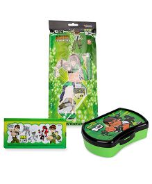 Ben 10 Super Combo Pack Lunch Box combo set and pouch and stationery set