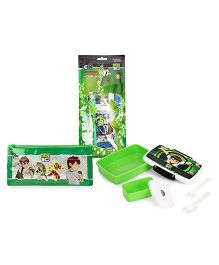 Ben 10 lunch box and pencil pouch and stationery set
