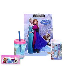 Disney stationery set and pencil pouch and clipboard and tumbler sipper